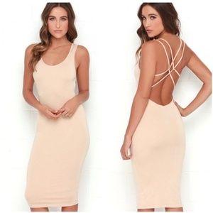 Lulu's M Jersey Girl strappy backless midi dress